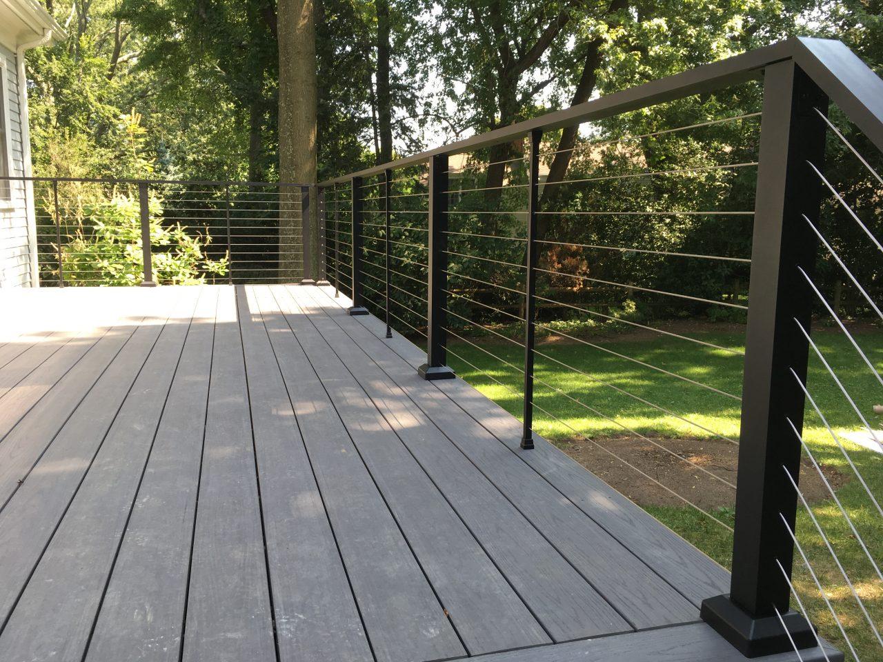 Aluminum Porch Hand Railing  Installation Sterling Heights